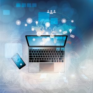 Software Automated Reserving Laptop And Cellphone Graphic