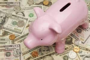 Picture of Piggy Bank Workers' Comp Costs and Money