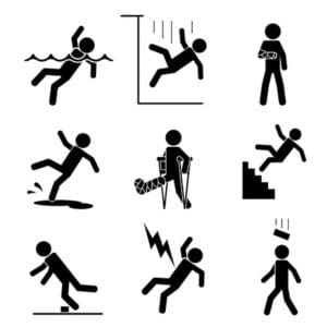 Vector illustration of Accident Icon Loss Prevention Incident