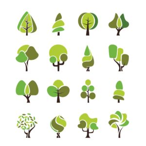 Vector Illustration Of Trees West Virginia Workers Comp Environment Featured