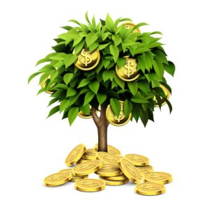 Graphic of Money Tree Workers Comp Insurance Premium Auditor Concept
