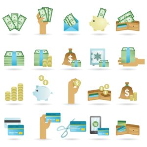 Vector Graphic of Money Icons Payroll (Premium Audits)
