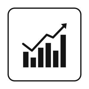 Graph ClipArt of Black Arrow Increase Reserve Reviews Loss Run In Bar Graph