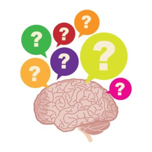 Graphic of Question Marks Workers' Comp Question On Brain