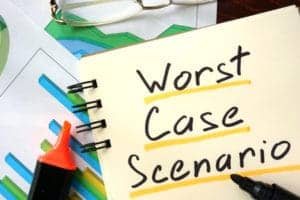 Graphic of Worst Case Scenario On Notepad