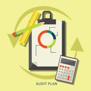 Paper And Calculator With Pencil And Ruler Audit Plan Claims Q&A Vector Images