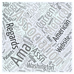 AMA word cloud State Costly Workers Comp