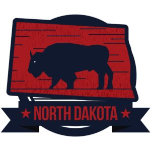 Graphic of North Dakota's With Buffalo emblem