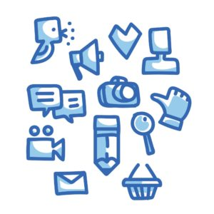 Drawing Style Social Media Our Blog Readers Blog Icons