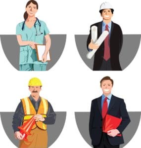 Vector graphic of safety person