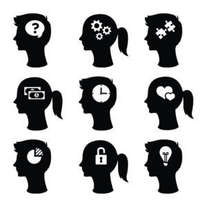 Vector Style Of Man And Woman Final Five Questions On Head