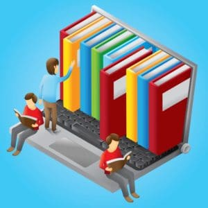 Vector Graphic of Three Man California Reader Books