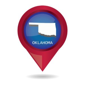 Map of Oklahoma Manufacturers and location icon