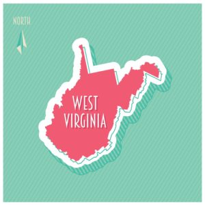 Map of West Virginia Conference Green Background