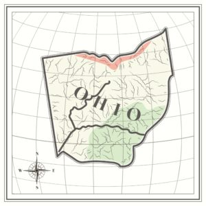 Map of Ohio Workers Compensation In Globe Graphic