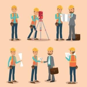 Vector graphic of workers One Thing to do with Client