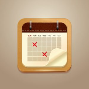 Graphic of Calendar UNIT STAT Date Mark