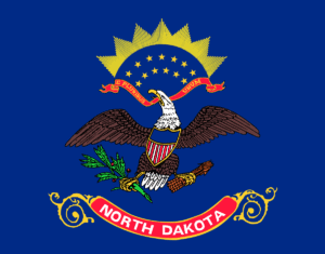 Graphic of north dakota Eagle In Blue Background Emblem