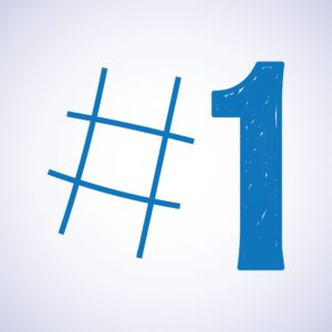 Vector Drawing Number One Color Blue 10 Question #1 With Number Sign