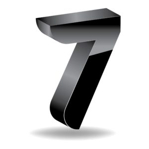 Vector Graphic of Number Seven 10 Questions #7 Metal Color