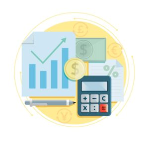 Money Graph Credit Score And Calculator Icon