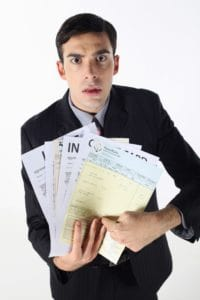 Man Showing Independent Contractor Tax Paper