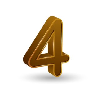 Picture of Number 4 Top 10 Questions In Golden Color