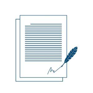 Graphic of Paper Insurance Designations With Signature Under