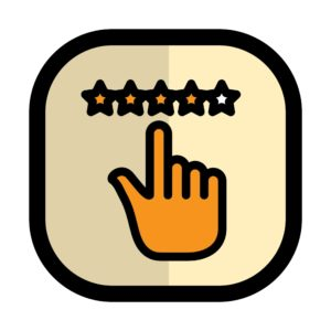 Vector Style of hands pointing California Workers Comp Policies star rating