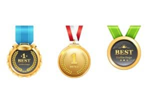 Graphic of three medals LexisNexis Workers Compensation Law Center
