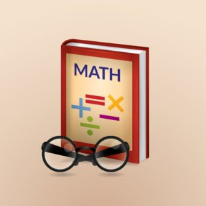 Graphic of Math book and eye glass Small Claim Can Be Very Expensive Per Unit