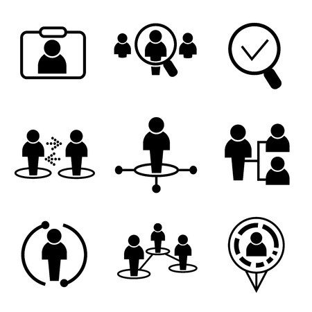 vector icons interchange of labor rule employees payroll job duties classification - Payroll Duties