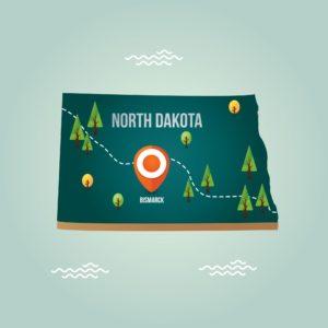 Graphic North Dakota WSI Location Map