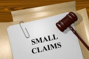 Picture of Small Claim Split Points Document And Gavel