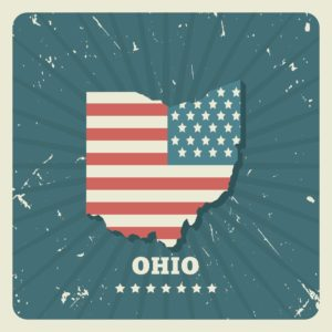 Ohio map stamp Ohio BWC Bureau Of Workers Compensation