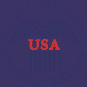 USA New Administration Social Security Emblem