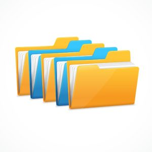 Graphic of Records Storage documents Folder