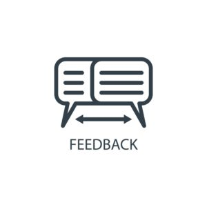 Graphic of Feedback Comment Recession-proofing Icon