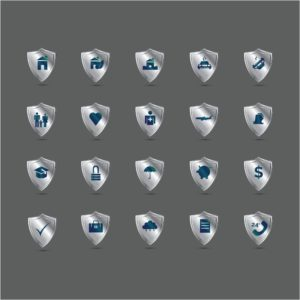 Vector Graphic of Insurance Hard Market Captives On Shield Icon