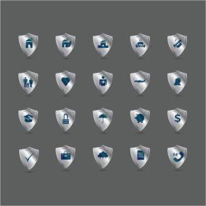 Vector Graphic of Insurance Hard Market Captives On Shield Icon