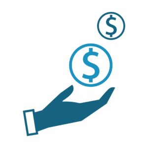 Vector Graphic Of Hand Premium Refund With Dollar Sign