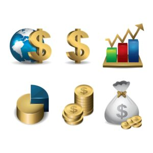 Vector Graphic of Dollar Sign Stimulus Package Financial Concept