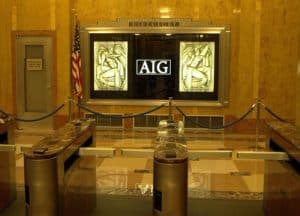 Picture Of Defense of AIG Lobby