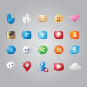 Graphic of Social Media Quick Apology Icons