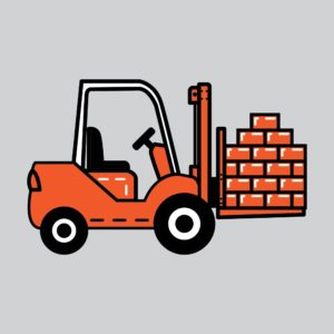 Truck Carrying Bricks West Virginia Graphic