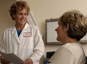 Doctor AMA talking to her recovered patient
