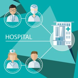 Vector Graphic Of Physicians Workers Compensation Program And Hospital