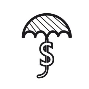 Graphic Of Umbrella Workers Compensation Reserves With Dollar Sign