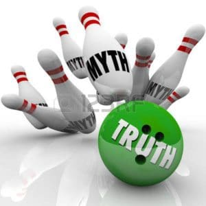 Graphics of bowling myth and truth Audit Process With White Background