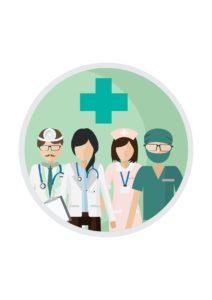 Vector Graphic of Duties Of Each Job Medical Team